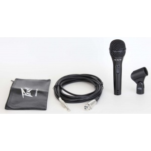 """PEAVEY PV®I 2 BLACK MICROPHONE – 1/4"""" CABLE"""
