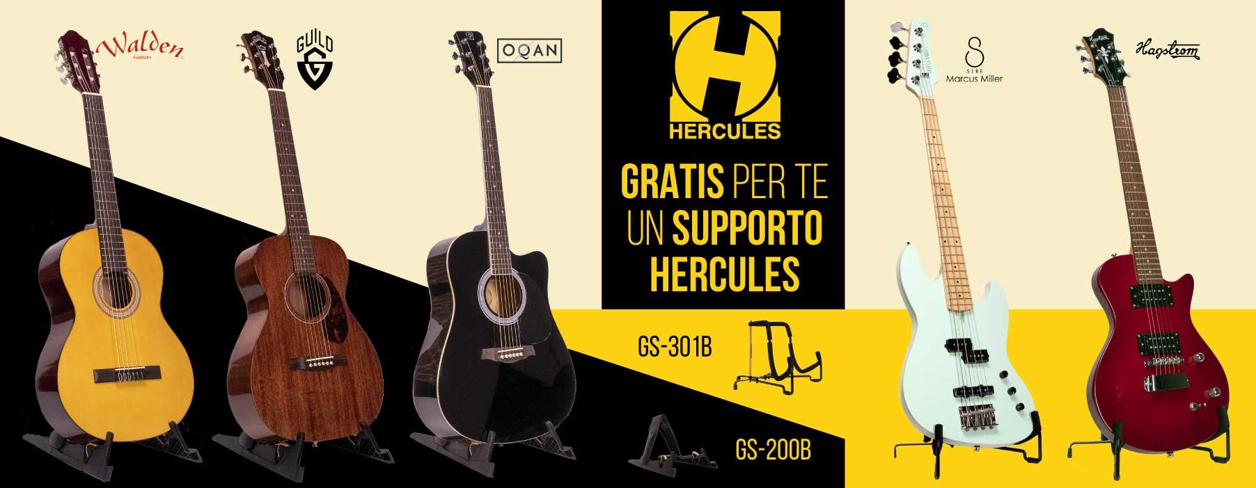 Set Chitarra/Basso + Stand Hercules OMAGGIO